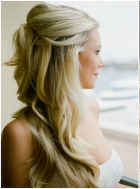 Hairstyle for round face in wedding